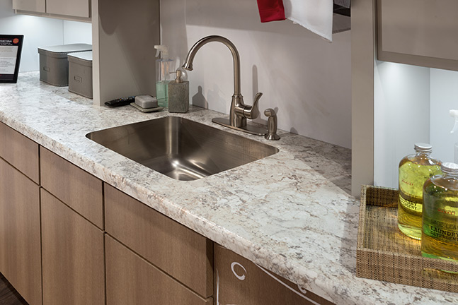 Countertops french quarter facades for Solid surface counters